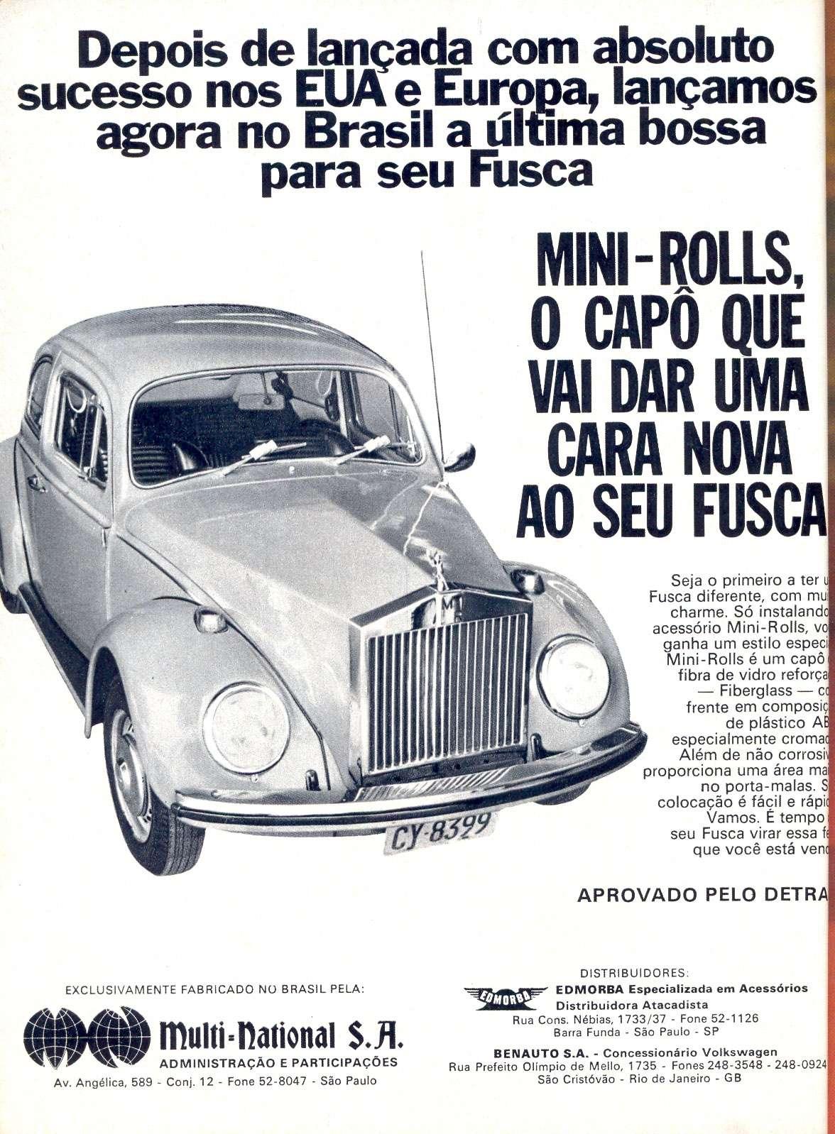 Mini-Rolls, o capô que vai dar uma cara nova ao seu Fusca